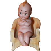 "1915 Antique Kewpie in Chair ""Governor"""