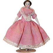 Antique China Doll House Doll 4 1/4 in.