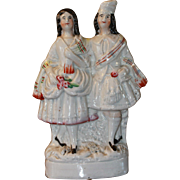 Fashionable Staffordshire Pair for Antique China Doll Collection