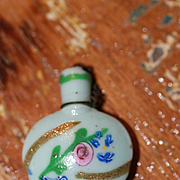 Gorgeous Antique Chatelaine Bottle for French Fashion, China Doll