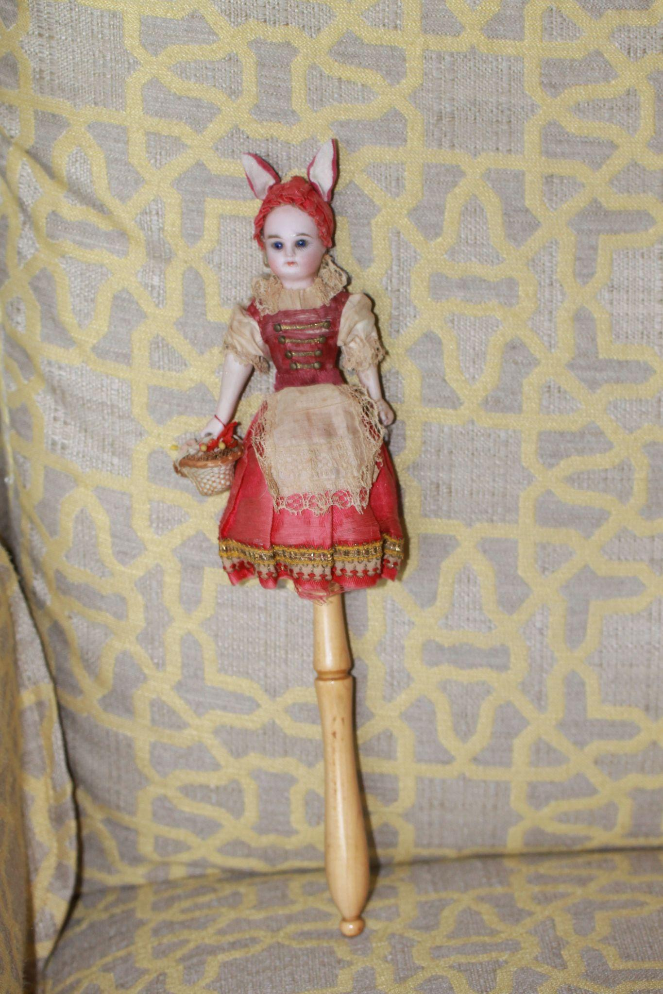 Antique Easter Bunny Bisque Marotte Doll