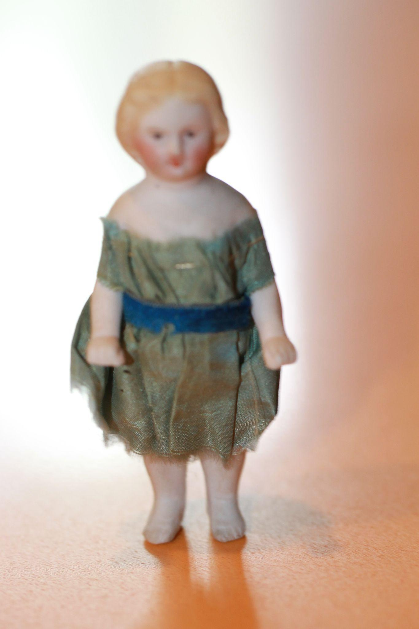 1860s Bisque Frozen Charlotte w/ Original Clothes