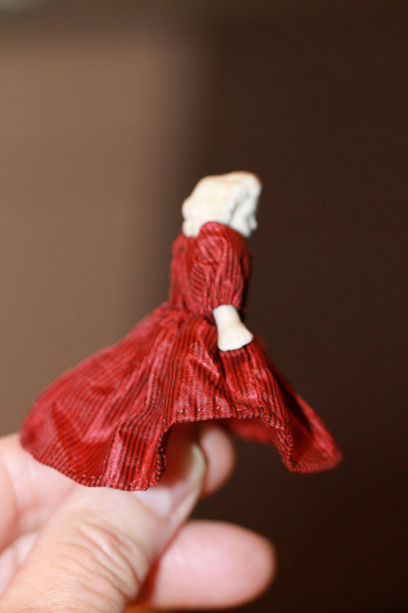 1870s Dress for Miniature Doll or Frozen Charlotte