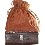 Antique Sac du Voyage for French Fashion, Bisque, China Dolls