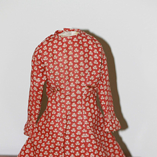 Fab Antique Calico Dress for French Fashion, China Doll