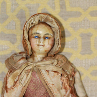 All Original, Early Antique Wax Doll