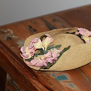 Lovely Turn of the Century  Hat for French, German Bebe