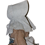 Early 1900s Bonnet for Antique Cloth, China or Papier Mache Doll