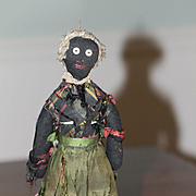 Black Fashion Doll Cloth 1860s Antique
