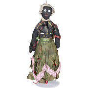 Black Fashion Doll Cloth 1860s Antique