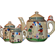 Clown Handled 10 Piece Tea Set So Cute!!!!!