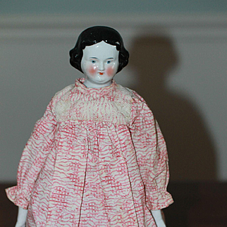 1860s Pressed in the Mold Antique China Doll