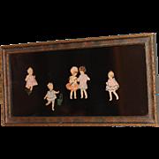 Folk Art Paper Dolls1920s-30s w/Cloth Dresses, Hair