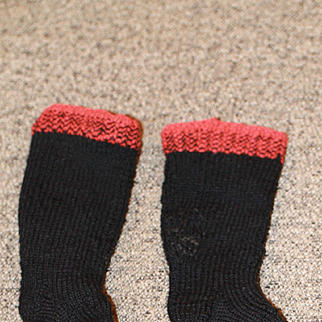 Hand Knit Wool Socks Late 1800s-Early1900s  Antique Cloth, China Doll