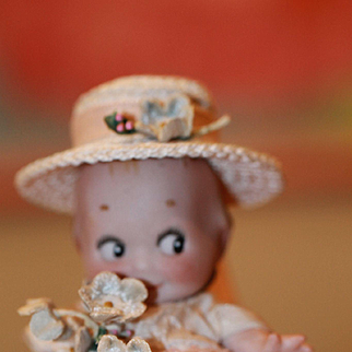 Sweetly Dressed Antique Kewpie Doll Rose O Neill