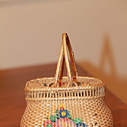Beautiful Antique Basket for French Fashion, China or Bebe