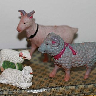 Belled Ram, Goat and Sheep for Spring/Easter Doll Accessories