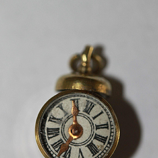 3/4in. Antique Miniature Watch/Compass Chatelaine for French Fashion, China Doll