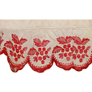 34Inches Antique Hand Embroidered Trim