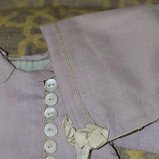 Vintage Lavender Jacket and Bonnet for Bisque, Composition, Plastic Baby Doll