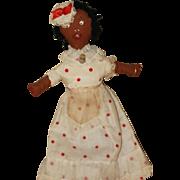"""""""Hard Hearted Hanna, a Vamp from Savannah""""  Black Cloth Doll"""