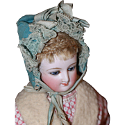 Charming Bonnet for Antique French fashion, Bisque, China Doll