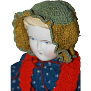 Antique Wool Bonnet for Cloth, China Doll