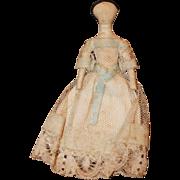 Circa 1850s 4 1/2 in Cloth Church Doll