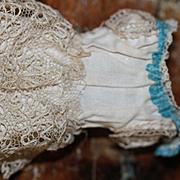 Antique Original Muslin Underdress for Mignonette Doll
