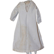 Hand Stitched Antique Night Gown for Bisque, China Doll