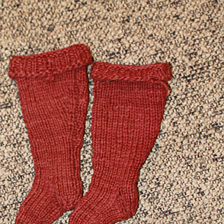 Small Early Antique Stockings Socks China, Cloth Dolls