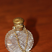 Antique Chatelaine Perfume Bottle for Larger Bisque Doll