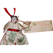 Christmas Gift Antique Bisque Doll Needle Case