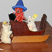 Antique Sled for Dolls Christmas