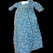 Child Made Antique Blue Calico Dress for Cloth, China Dolls