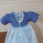 Lined Dress for Composition, Plastic Dolls