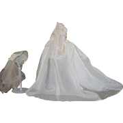 Vintage Wedding Gown for Plastic Doll