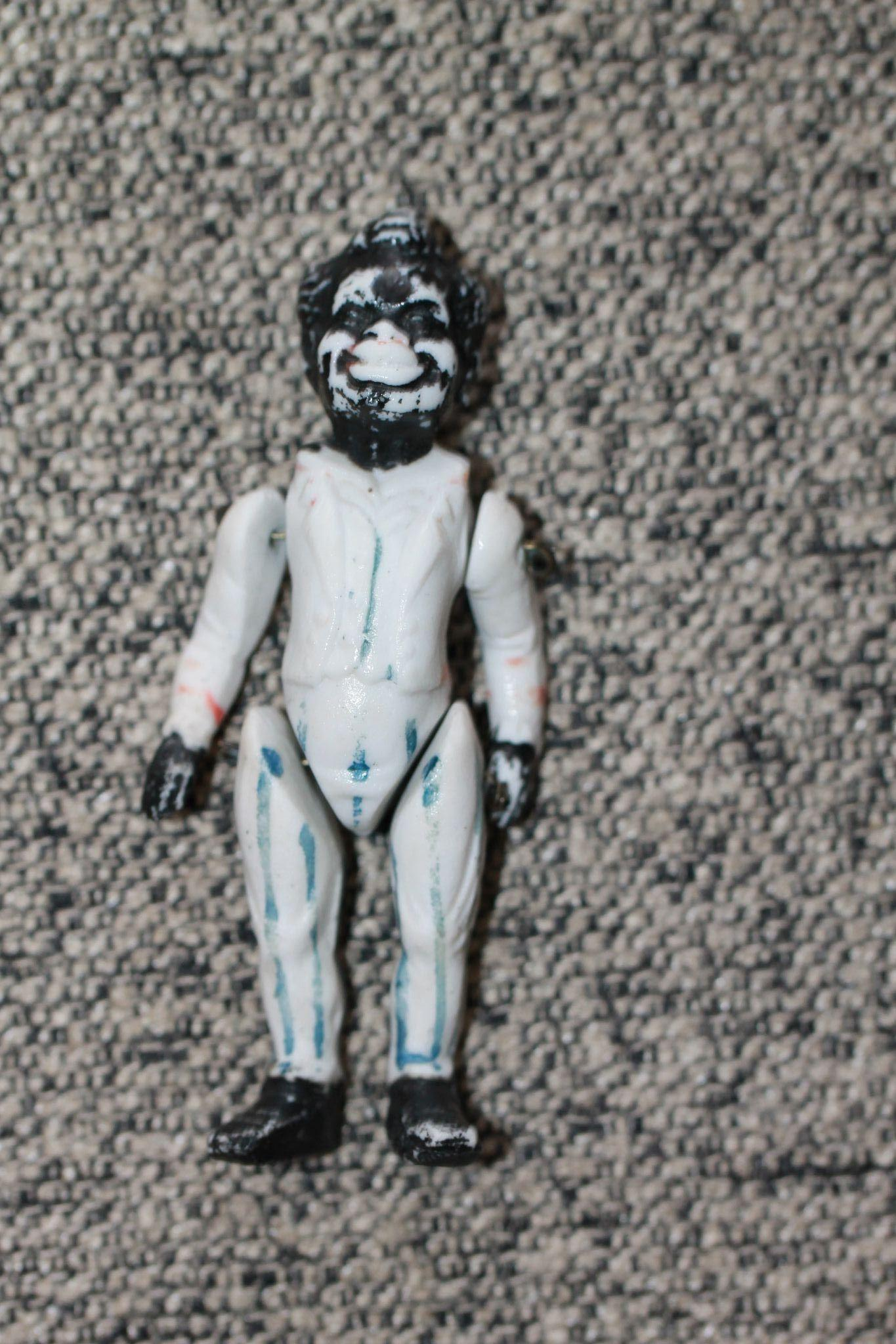 Black Dollhouse Minstrel Bisque Doll Rare