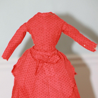 1850s Wool Dress For Antique China Doll