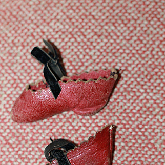 Early Antique Shoes for China, Cloth Doll