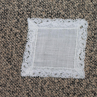 French Fashion Size Linen Handkerchief