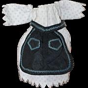 1850sDress for Smaller China, Cloth, Papier Mache Doll