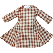 1860s Dress for Antique China, Cloth, Papier Mache Doll