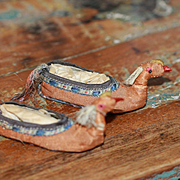 Unusual Antique Shoes for Bisque, China Doll