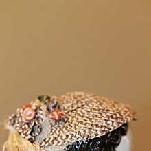 1860s Straw Spoon Hat Bonnet for China, Bisque Dolls