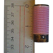 Foster and Bailey (F&B) Vintage Guilloche Lipstick Tube Pink