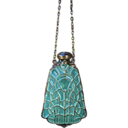 Foster & Bailey Plique a jour perfume bottle necklace