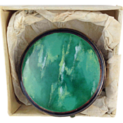 Foster and Bailey (F&B) Green Enamel Compact