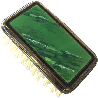 Foster & Bailey Green Enamel Clothes Brush
