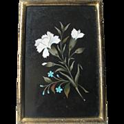 Antique Pietra Dura Plaque, Florals of Italy Micro Mosaic.